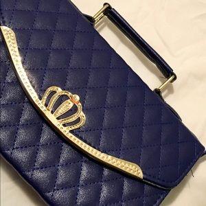 Handbags - Navy blue quilted leather handbag